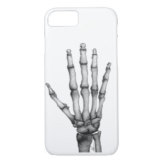 Skeleton hand drawing iPhone 7 case