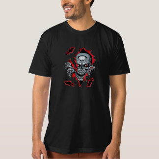 skeleton head out of the stomach T-Shirt