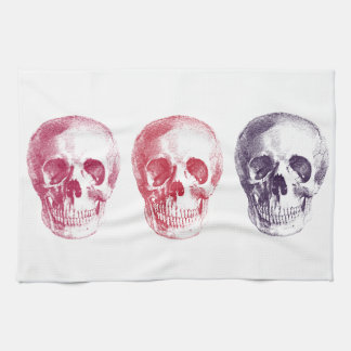 Skeleton Heads Kitchen Towel