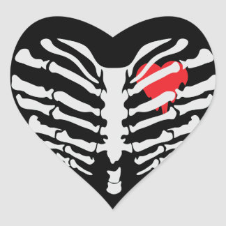 Skeleton Heart Heart Sticker