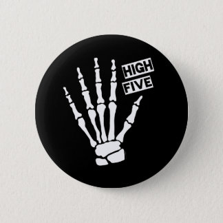 Skeleton High Five 2 Inch Round Button