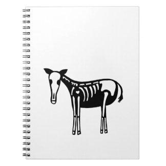 Skeleton Horse Notebooks