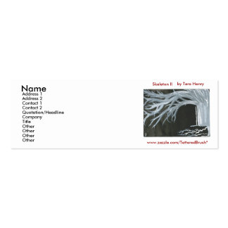 Skeleton II Social Cards Mini Business Card