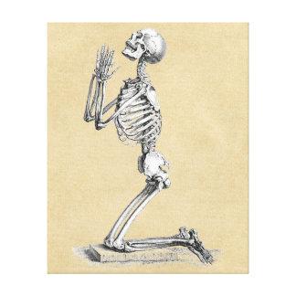 Skeleton in Prayer Canvas Print