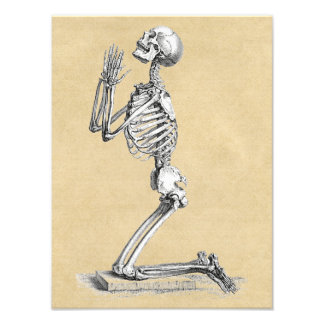 Skeleton in Prayer Photo Print