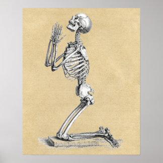 Skeleton in Prayer Poster