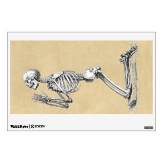 Skeleton in Prayer Wall Sticker