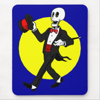 Skeleton in Tuxedo Suit Mouse Pad
