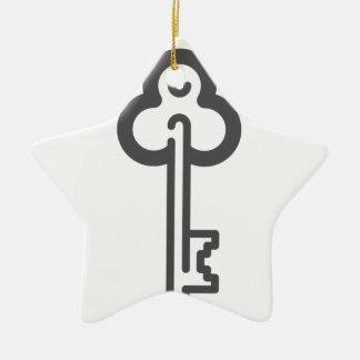 Skeleton Key Ceramic Ornament