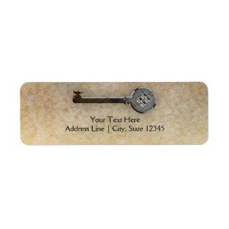 Skeleton Key Vintage Looking-We have moved Address Return Address Label