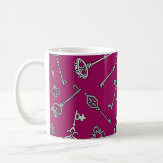 Skeleton Keys Burgundy Coffee Mug