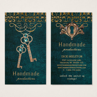 Skeleton Keys Old Lock Vintage Steampunk Gothic Business Card