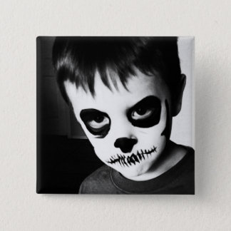Skeleton Kid (2 inch pin) 2 Inch Square Button