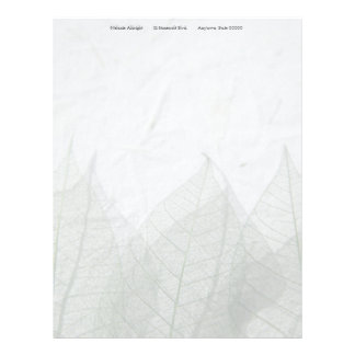 Skeleton leaves fade letterhead