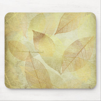 Skeleton Leaves Gold & Bronze mouse pad