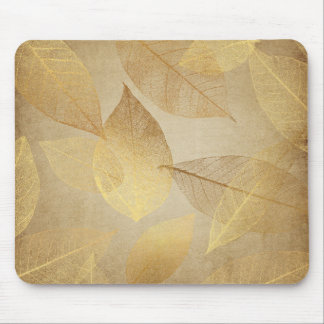Skeleton Leaves Gold & Copper Mouse Pad