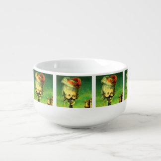 Skeleton Masked Mug with soup
