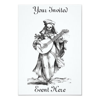 Skeleton Minstrel Invitation