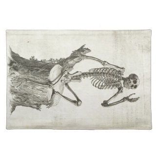 Skeleton Monkey Placemat