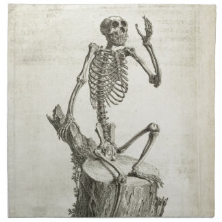 Skeleton Monkey Printed Napkin