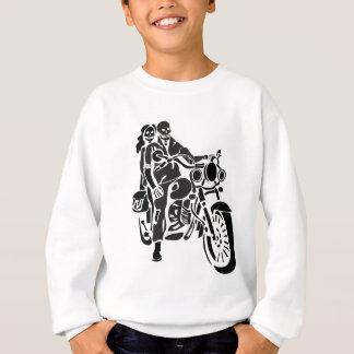 Skeleton Motorcycle Couple Sweatshirt