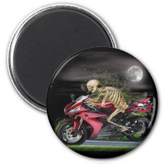 Skeleton Motorcycle items Magnet