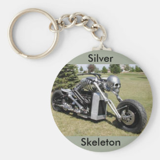 Skeleton motorcycle keychain