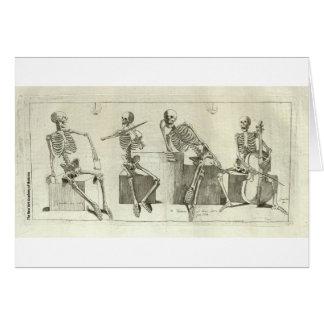 Skeleton Musicians Card