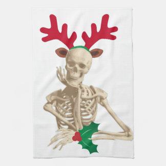 skeleton nightmare christmas kitchen towel