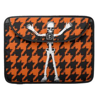 Skeleton On Halloween Houndstooth Sleeve For MacBook Pro