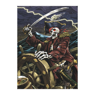 Skeleton Pirate Canvas