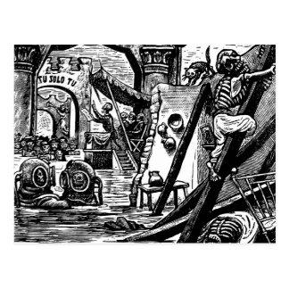 Skeleton Pirates circa 1951 Post Cards