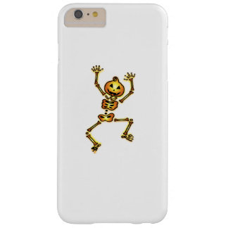 Skeleton Pumpkin Halloween Funny Gift Barely There iPhone 6 Plus Case