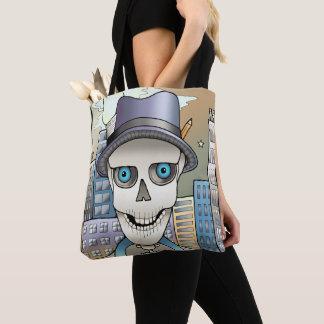 Skeleton Reporter Tote Bag