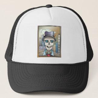Skeleton Reporter Trucker Hat