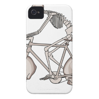 Skeleton Riding Bike With Skull Wheels iPhone 4 Cover