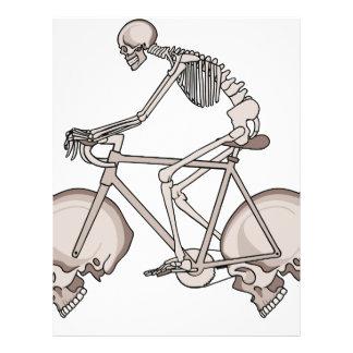 Skeleton Riding Bike With Skull Wheels Letterhead
