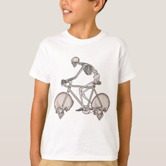 Skeleton Riding Bike With Skull Wheels T-Shirt
