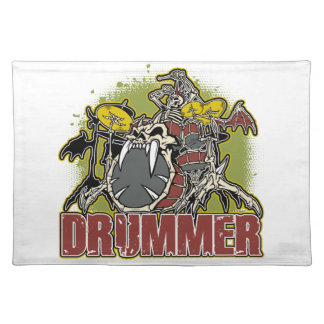 Skeleton Rock Drummer Placemat