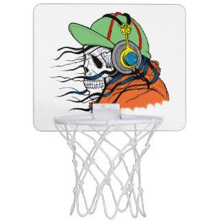 Skeleton Rocking wearing headphones Mini Basketball Hoop