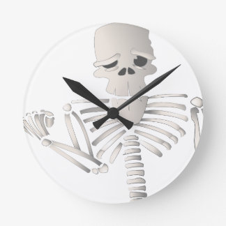 Skeleton Round Clock