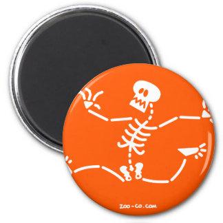 Skeleton Running Away Magnet