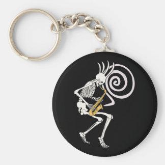 Skeleton Saxophone Key Chain