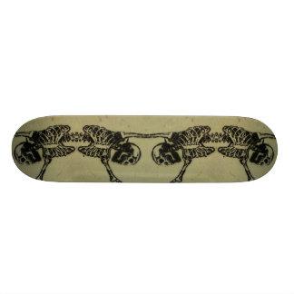 Skeleton skateboard! skateboard deck