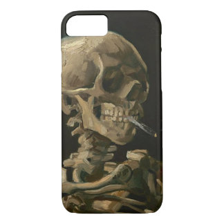 Skeleton Skull with Burning Cigarette by Van Gogh iPhone 8/7 Case