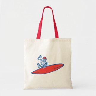 Skeleton Surfer Tote Bag