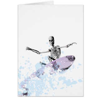 Skeleton surfing the curl card