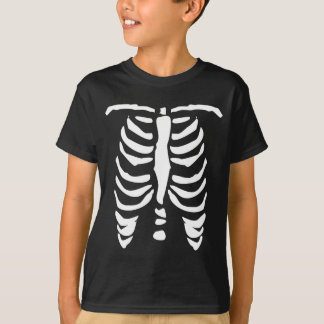 Skeleton t shirt for kids | Halloween Ribcage