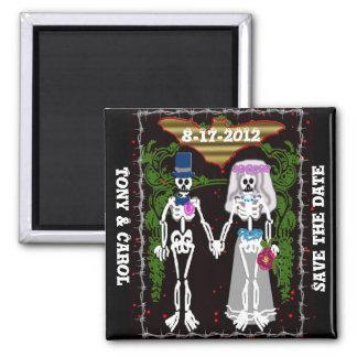 skeleton wedding 1 magnet