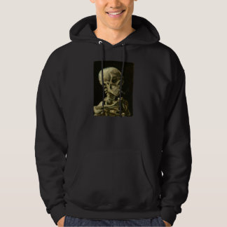 Skeleton with Cigarette 1886 Hoodie for Men